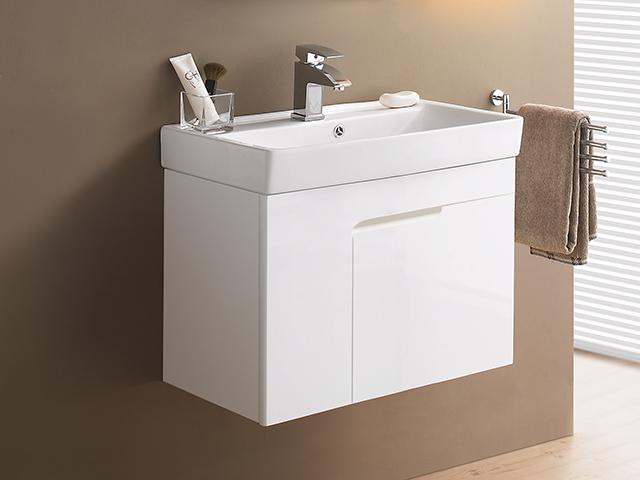 米萊簡約防水浴櫃-白色鋼烤