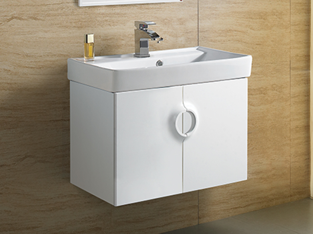 米萊月圓防水浴櫃-白色鋼烤