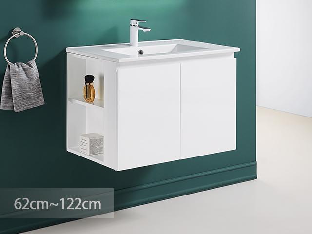 米蘭清新防水浴櫃-白色鋼烤